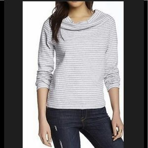 Standard James Perse cowl neck striped top